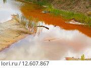 Купить «Заброшенный песчаный карьер», фото № 12607867, снято 29 августа 2015 г. (c) Сосенушкин Дмитрий Александрович / Фотобанк Лори