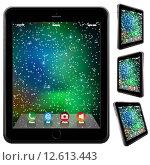 Купить «photo realistic Tablet Similar To iPad style isolated on white», иллюстрация № 12613443 (c) PantherMedia / Фотобанк Лори