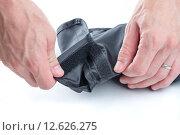 Купить «Hands Opening Velcro», фото № 12626275, снято 23 марта 2019 г. (c) PantherMedia / Фотобанк Лори