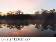 Рассвет над рекой. Стоковое фото, фотограф Владимир Мигонькин / Фотобанк Лори