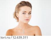 Купить «woman with diamond necklace», фото № 12639311, снято 17 марта 2013 г. (c) Syda Productions / Фотобанк Лори