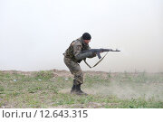 Учения Речфлота в Новосибирске. Атака террористов (2015 год). Редакционное фото, фотограф Сергей Завражных / Фотобанк Лори