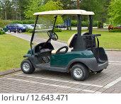Купить «Машина для гольфа (также машинка для гольфа, гольф-карт от англ. golf cart или гольф-кар от англ. golf car)», фото № 12643471, снято 18 июля 2015 г. (c) Валерия Попова / Фотобанк Лори