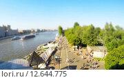 Вид с высоты на парк Горького. Таймлапс. Стоковое видео, видеограф Vladimir Botkin / Фотобанк Лори