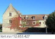 Купить «Виноград, вьющийся по стенам старого здания. Франция», фото № 12653427, снято 19 сентября 2019 г. (c) Владимир Григорьев / Фотобанк Лори