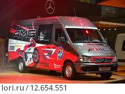 Купить «Фургон Mercedes-Benz Sprinter», фото № 12654551, снято 8 сентября 2015 г. (c) AK Imaging / Фотобанк Лори