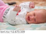 Купить «Гормональная сыпь у новорожденного», фото № 12673339, снято 14 января 2015 г. (c) Анастасия Улитко / Фотобанк Лори