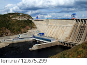 Купить «Бурейская ГЭС», фото № 12675299, снято 12 сентября 2015 г. (c) Виктор Нечаев / Фотобанк Лори