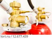 Крупная промышленная СО2 система пожаротушения. Стоковое фото, фотограф Mikhail Starodubov / Фотобанк Лори