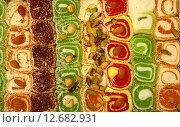 Купить «Турецкие сладости - мармелад», фото № 12682931, снято 13 сентября 2015 г. (c) Елена Ковалева / Фотобанк Лори