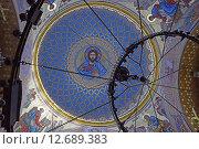 Купить «Фреска купола крупным планом Морского Никольского собора в Кронштадте», эксклюзивное фото № 12689383, снято 6 марта 2015 г. (c) Максим Мицун / Фотобанк Лори
