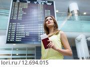 Купить «Young woman», фото № 12694015, снято 30 июля 2015 г. (c) Raev Denis / Фотобанк Лори