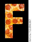 Купить «Пицца в виде букв латинского алфавита», фото № 12694067, снято 9 сентября 2010 г. (c) Александр Подшивалов / Фотобанк Лори