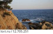 Коста Брава, побережье Льорет де Мар (2015 год). Стоковое видео, видеограф Валерий Назаров / Фотобанк Лори