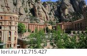 Купить «Монастырь Монтсеррат, Испания, Каталония», видеоролик № 12715427, снято 19 сентября 2015 г. (c) Валерий Назаров / Фотобанк Лори