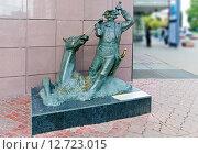 Купить «Город Москва. Скульптура барона Мюнхгаузена», фото № 12723015, снято 14 сентября 2015 г. (c) Зобков Георгий / Фотобанк Лори