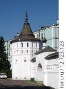 Купить «Даниловский монастырь в Москве. Башня ограды», фото № 12723123, снято 21 сентября 2015 г. (c) Natalya Sidorova / Фотобанк Лори