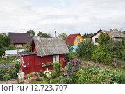 Купить «Дачные дома», эксклюзивное фото № 12723707, снято 20 августа 2012 г. (c) Алёшина Оксана / Фотобанк Лори
