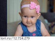 Купить «Восьмимесячный ребенок», фото № 12724279, снято 4 сентября 2015 г. (c) Анастасия Улитко / Фотобанк Лори