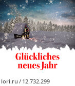 Composite image of glückliches neues jahr. Стоковое фото, агентство Wavebreak Media / Фотобанк Лори