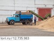 Купить «Процесс сортировки зерна», эксклюзивное фото № 12735983, снято 20 августа 2015 г. (c) Иван Карпов / Фотобанк Лори