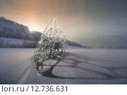 Абстрактный зимний пейзаж. Стоковое фото, фотограф Алексей Елфимчев / Фотобанк Лори