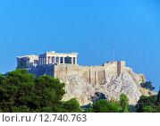 Купить «Античный храм Парфенон в Акрополе, Афины», фото № 12740763, снято 8 июня 2009 г. (c) Ростислав Агеев / Фотобанк Лори