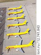 Купить «Schkeuditz, Germany, Aircraft at DHL air freight hub at Leipzig-Halle Airport», фото № 12741843, снято 4 октября 2014 г. (c) Caro Photoagency / Фотобанк Лори