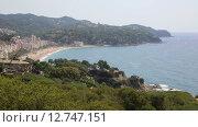 Испания, Каталония, Коста Брава, побережье Lloret de Mar (2015 год). Стоковое видео, видеограф Валерий Назаров / Фотобанк Лори