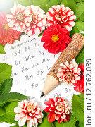 Купить «Открытка к 1 сентября», фото № 12762039, снято 19 сентября 2015 г. (c) Наталья Осипова / Фотобанк Лори