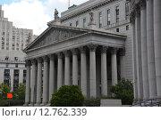 Здание окружного суда Соединенных Штатов в Нью-Йорке (2013 год). Стоковое фото, фотограф Алексей Кокоулин / Фотобанк Лори