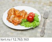 Купить «Куриное филе в остром соусе с овощами», фото № 12763163, снято 24 сентября 2015 г. (c) Алёшина Оксана / Фотобанк Лори