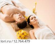 Купить «couple in spa», фото № 12764479, снято 4 мая 2013 г. (c) Syda Productions / Фотобанк Лори