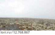 Купить «Туман в горах, закрытый горный перевал. Вид с плато. Хибины», видеоролик № 12768867, снято 2 сентября 2015 г. (c) Кекяляйнен Андрей / Фотобанк Лори