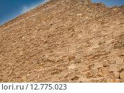 Купить «Детальное изображение стены египетской пирамиды», фото № 12775023, снято 17 сентября 2014 г. (c) Сосенушкин Дмитрий Александрович / Фотобанк Лори