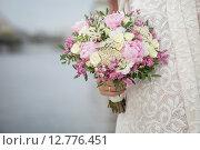 Купить «Свадебный букет», фото № 12776451, снято 15 августа 2014 г. (c) Блинова Ольга / Фотобанк Лори