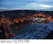 Купить «Вид на Тибр и мосты с крепости Saint Angelo в Риме», фото № 12777747, снято 3 января 2014 г. (c) Елена Антипина / Фотобанк Лори