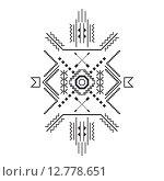 Геометрический узор из простых фигур. Стоковая иллюстрация, иллюстратор Postolatii Natalia / Фотобанк Лори