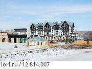 Купить «Shahdag - FEBRUARY 8, 2015: Tourist Hotels on February 8 in Aze», фото № 12814007, снято 8 февраля 2015 г. (c) Elnur / Фотобанк Лори