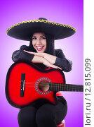 Купить «Guitar player isolated on the white», фото № 12815099, снято 18 апреля 2013 г. (c) Elnur / Фотобанк Лори