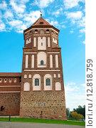 Купить «Беларусь, Мирский замок. Башня средневекового замка», фото № 12818759, снято 23 сентября 2015 г. (c) Ласточкин Евгений / Фотобанк Лори