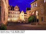 Купить «Внутренний двор замка Гейдельберг ночью в Гейдельберге, Германия», фото № 12828327, снято 26 апреля 2014 г. (c) Сергей Новиков / Фотобанк Лори