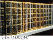 Старинные русские книги на полках в национальной библиотеки Финляндии. Стоковое фото, фотограф g.bruev / Фотобанк Лори