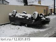 ДТП зимой в гололед (2007 год). Редакционное фото, фотограф Дмитрий Пискунов / Фотобанк Лори