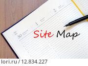 Купить «Site map text concept», фото № 12834227, снято 7 августа 2020 г. (c) PantherMedia / Фотобанк Лори