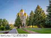 Купить «Церковь на Мамаевом Кургане в Волгограде», фото № 12850063, снято 27 августа 2015 г. (c) игорь турукин ФОТОГРАФ / Фотобанк Лори
