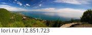 Купить «Панорама моря, Новый Афон», фото № 12851723, снято 3 мая 2015 г. (c) Михаил Кочиев / Фотобанк Лори
