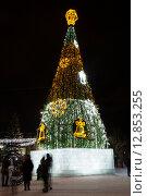 Купить «Новогодняя елка на центральной площади Нижнего Тагила. Россия», фото № 12853255, снято 11 января 2015 г. (c) Евгений Ткачёв / Фотобанк Лори