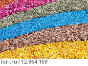 Купить «Разноцветная древесная щепа в качестве фона», фото № 12864159, снято 17 февраля 2019 г. (c) FotograFF / Фотобанк Лори