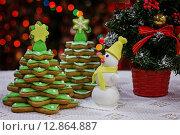 Домашние сладости на Рождество и Новый год. Стоковое фото, фотограф A_ksenya / Фотобанк Лори